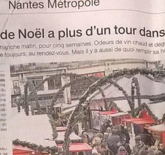 Article presse Ouest France Nantes metropole marche Noel nantes Emilie FIala