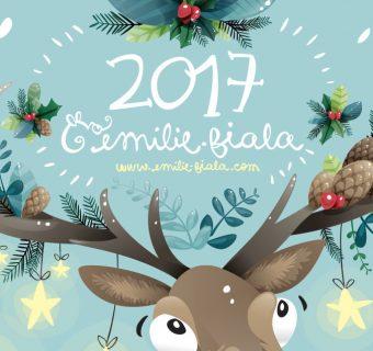 Bonne annee rennes illustration 2017 Emilie Fiala