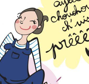 Bebe naissance maternite blog bloggeuse Emilie Fiala dessin