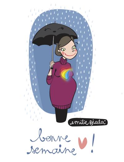 Bonne semaine pluie arc-en-ciel coeur meteo Emilie Fiala