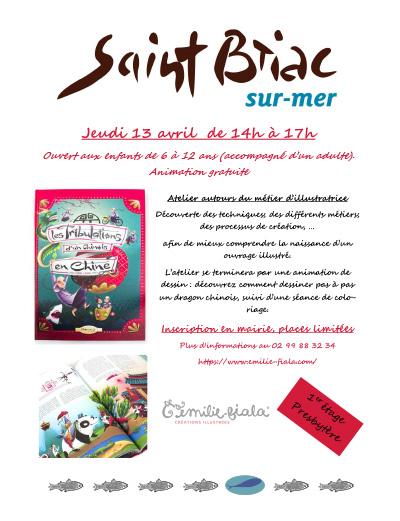 Saint-Briac animation tout public illustration Emilie Fiala