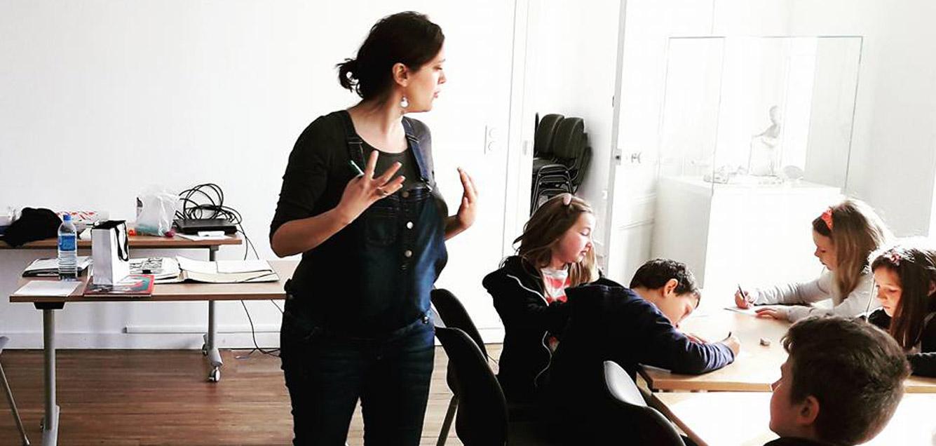 Saint-Briac intervention scolaire illustrateur Ille-et-Vilaine Emilie Fiala