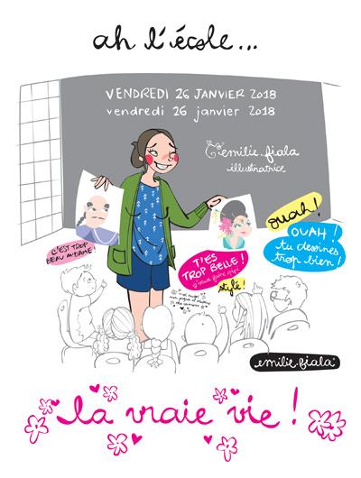 Intervention ecole pedagogie atelier illustratrice Emilie Fiala