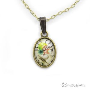 Petit pendentif simple Tea Time bronze antique zoom Emilie Fiala