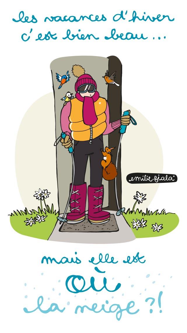 Vacances hiver ski fevrier montagne alpes neige Emilie Fiala