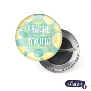 Badge-37mm-Les-Parisiennes-Mojito-Emilie-FIALA