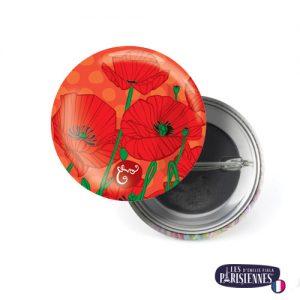 Badge-37mm-Les-Parisiennes-Poppy-Emilie-FIALA