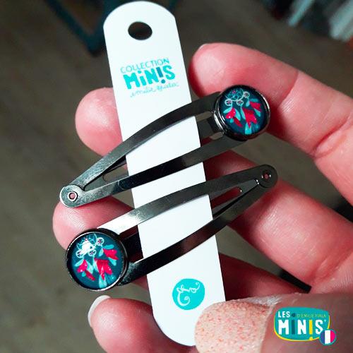 Barrettes-Accessoires-cheveux-Les-Minis-packaging-main-Emilie-FIALA