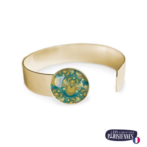 Bracelet-Medium-Les-Parisiennes-Scarabees_OR