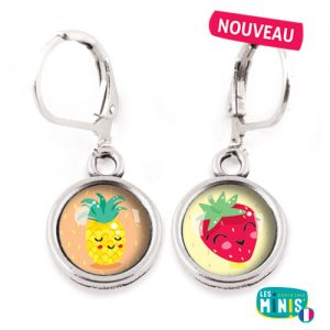 Dormeuses-Les-Minis-Ananas-Fragaria-bijoux-enfants-cadeau