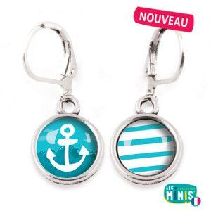 Dormeuses-Les-Minis-Ancre-Marine-bijoux-enfants-cadeau