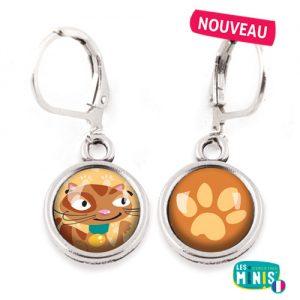 Dormeuses-Les-Minis-Chat-Patte-bijoux-enfants-cadeau