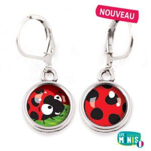 Dormeuses-Les-Minis-Coccinelle-Pois-bijoux-enfants-cadeau