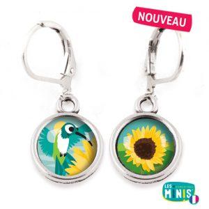 Dormeuses-Les-Minis-Colibri-Tournesol-bijoux-enfants-cadeau