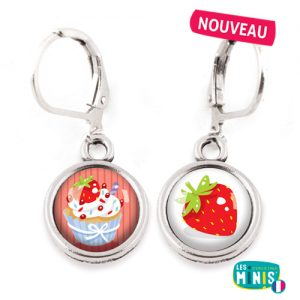 Dormeuses-Les-Minis-Cupcake-Fraise-bijoux-enfants-cadeau