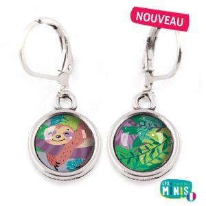 Dormeuses-Les-Minis-Paresseux-Tropical-bijoux-enfants-cadeau