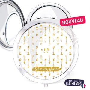 Miroir-Les-Parisiennes-argente-Bim-accessoire-fleche-tendance