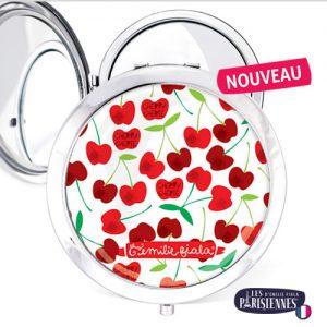 Miroir-Les-Parisiennes-argente-Cherry-accessoire-Cerises-Printemps