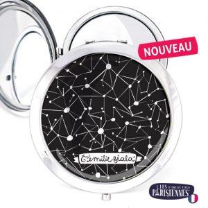 Miroir-Les-Parisiennes-argente-Constellation-accessoire-etoiles-astronomie-ciel