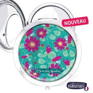 Miroir-Les-Parisiennes-argente-Fleur-d-Eau-accessoire-botanique-flore