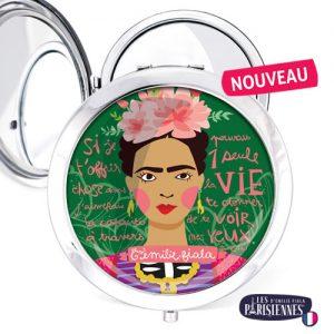 Miroir-Les-Parisiennes-argente-Frida-accessoire-peinture-artiste-kahlo