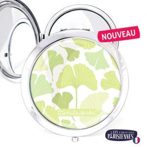 Miroir-Les-Parisiennes-argente-Ginkgo-Biloba-accessoire-mode-tendance