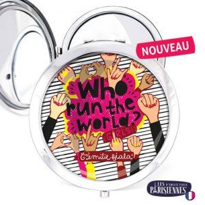 Miroir-Les-Parisiennes-argente-Girl-Power-accessoire-femmes-beyonce