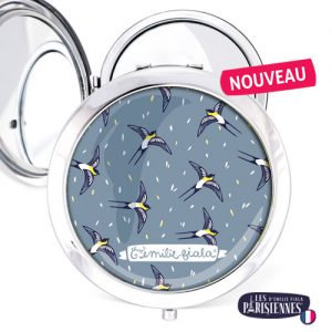 Miroir-Les-Parisiennes-argente-Hirondelles-accessoire-oiseaux-printemps