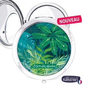 Miroir-Les-Parisiennes-argente-Jungle-accessoire-Tropical-plantes