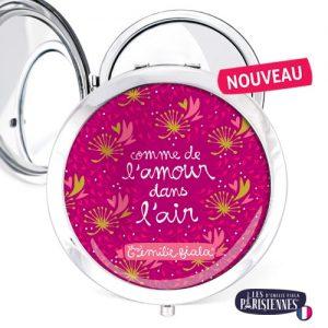 Miroir-Les-Parisiennes-argente-Love-accessoire-coeurs-amour