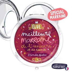 Miroir-Les-Parisiennes-argente-Marraine-accessoire-Fee-Cosmos