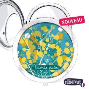 Miroir-Les-Parisiennes-argente-Mimosa-accessoire-printemps-soleil