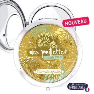 Miroir-Les-Parisiennes-argente-Paillettes-accessoire-or-feerie