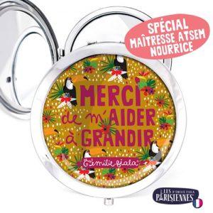 Miroir-Les-Parisiennes-argente-Pelicans-accessoire-atsem-nourrices-maitresse-cadeau