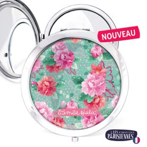 Miroir-Les-Parisiennes-argente-Pivoines-accessoire-fleurs-liberty