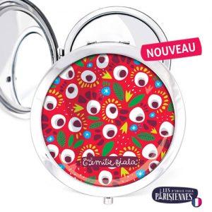Miroir-Les-Parisiennes-argente-Pop-accessoire-eclosion-fleurs-flore