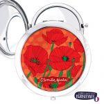 Miroir-Les-Parisiennes-argente-Poppy-accessoire-coquelicot-rouge
