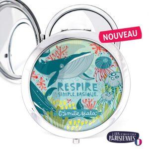 Miroir-Les-Parisiennes-argente-Respire-accessoire-baleine-sous-marin
