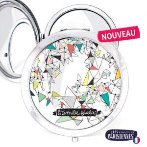 Miroir-Les-Parisiennes-argente-Spline-accessoire-vecteur-modernite