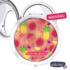 Miroir-Les-Parisiennes-argente-Tutti-Frutti-accessoire-fruits-vitamines