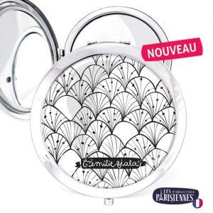 Miroir-Les-Parisiennes-argente-Verger-accessoire-graphique-NB