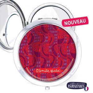 Miroir-Les-Parisiennes-argente-Wax-accessoire-mode-afrique