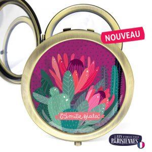 Miroir-Les-Parisiennes-bronze-antique-Cactus-accessoire-fleur-botanique