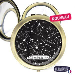 Miroir-Les-Parisiennes-bronze-antique-Constellation-accessoire-etoiles-astronomie-ciel