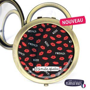 Miroir-Les-Parisiennes-bronze-antique-French-Kiss-accessoire-bisou-bouche