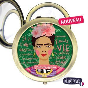 Miroir-Les-Parisiennes-bronze-antique-Frida-accessoire-peinture-artiste-kahlo