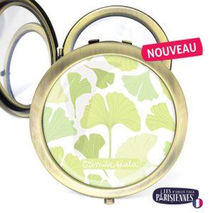 Miroir-Les-Parisiennes-bronze-antique-Ginkgo-Biloba-accessoire-mode-tendance