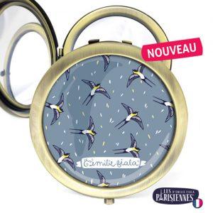 Miroir-Les-Parisiennes-bronze-antique-Hirondelles-accessoire-oiseaux-printemps