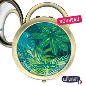 Miroir-Les-Parisiennes-bronze-antique-Jungle-accessoire-Tropical-plantes