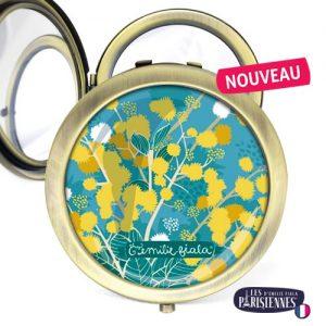 Miroir-Les-Parisiennes-bronze-antique-Mimosa-accessoire-printemps-soleil